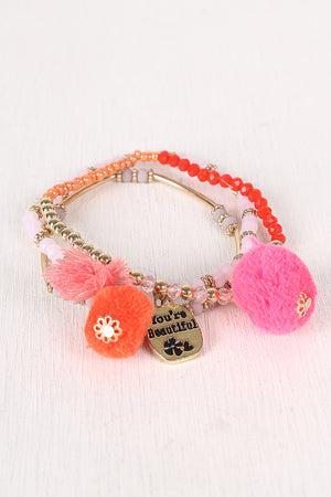 You're Beautiful Beaded Bracelet Set