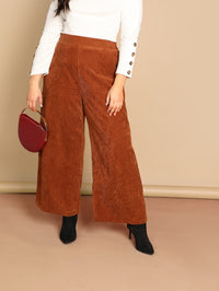 Plus Slant Pocket Wide Leg Pants