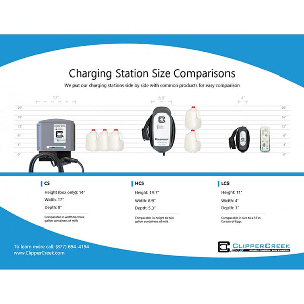 ClipperCreek Level 2 EV Charging Station – Hardwired, 32 Amp, 240V, 25 ft cable image 583941095444