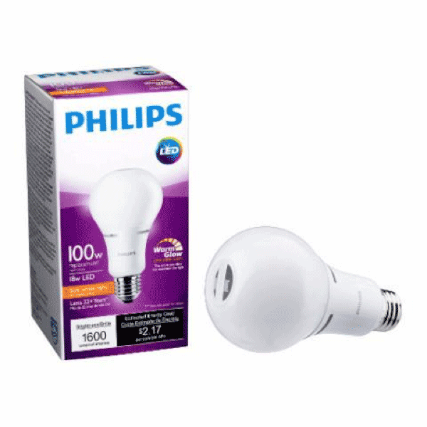 A21 Philips 16W Dimmable Warm White Indoor (6 Pack) image 82403622932