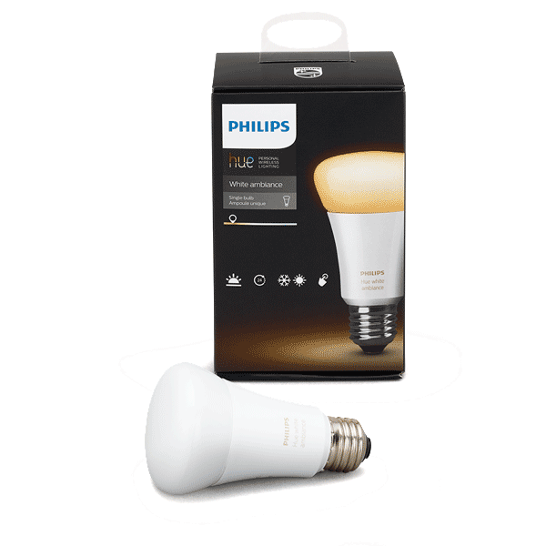 A19 Philips Hue 10W Dimmable White Ambiance Indoor (Single)