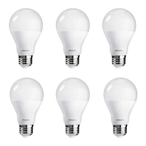A19 Philips 9.5W Dimmable Warm White Indoor (6 Pack)
