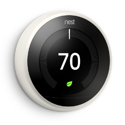3rd Gen Nest Learning Thermostat - White image 27295160149