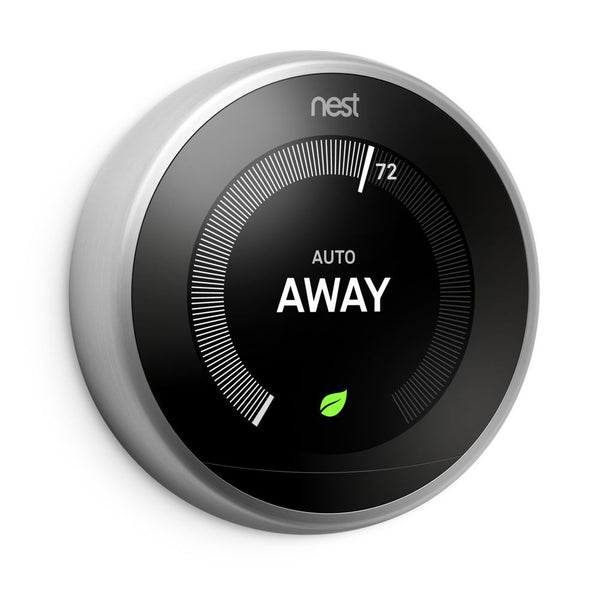 3rd Gen Nest Learning Thermostat - Stainless Steel image 27295159061