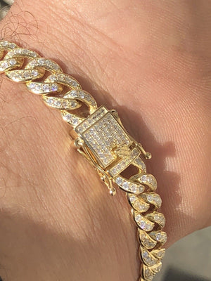 14k Miami Cuban Link Bracelet (9mm)