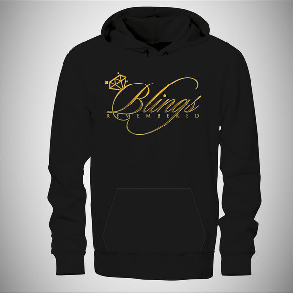 Blings Remembered - Mens Hoodie w/Gold Logo