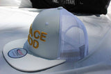 Peace GOD White and Yellow Snapback Mesh Leather hat