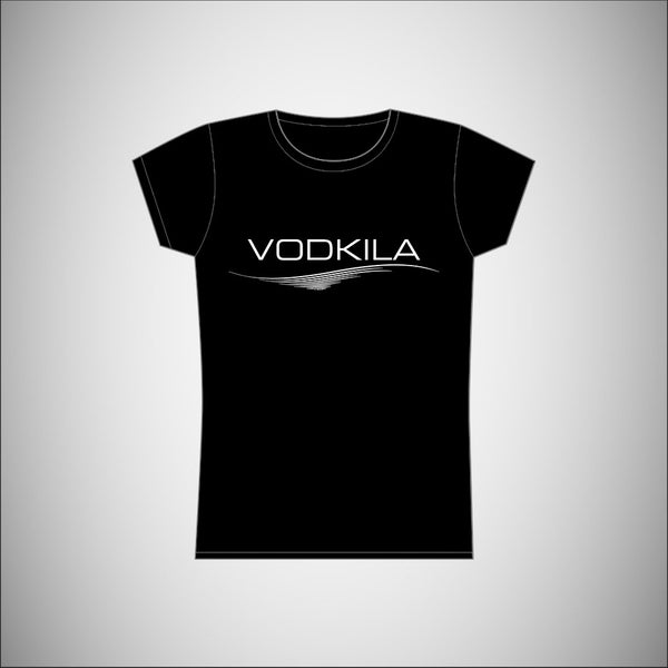 Vodkila - Womens T-Shirt w/White Logo