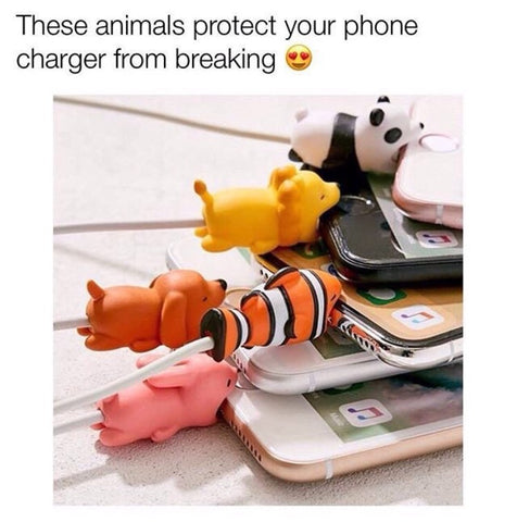 animal charging cable protector or saver