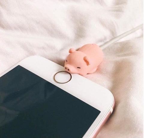 pig animal charger cable saver protector
