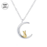 Sweet Bunny Moon Necklace - Bunny Supply Co.