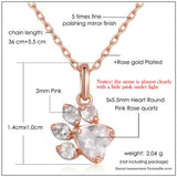 Pet Lover's Paw Necklace - Rose Gold - Bunny Supply Co.