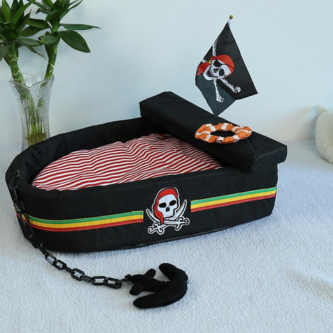 Cozy Pirate Ship Rabbit Bed - Bunny Supply Co.