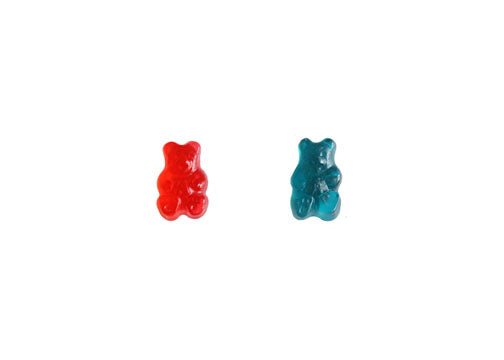 Strawberry-Blue Razz Gummy Bear Duo