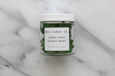 Green Apple Gummy Bears (4oz.)