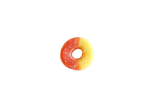 Juicy Peach Gummy Rings (4oz.)