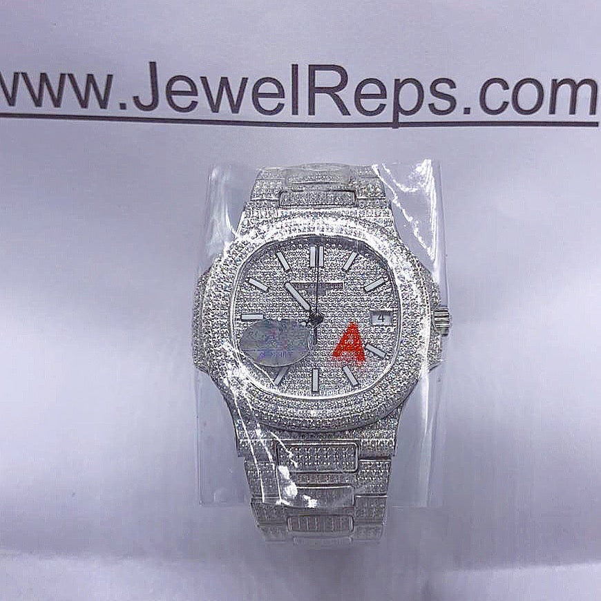 replica-knockoff-watch-website-high-quality-bust down-iced-out-replica-patek-philippe-nautilus-watch-trusted-replica-watch-website