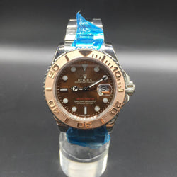 Replica Rolex Yacht-Master 40MM  Stainless Steel & Yellow Gold Anthracite Dial Swiss WATCH - top quality swiss movement knockoff replica designer watches from rolex, migos iced out philippe patek , AP, hublot and bust down iced out diamond jewelry