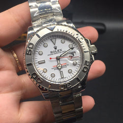 Replica Rolex Yacht-Master Steel bands and select Dial colors Swiss watch - top quality swiss movement knockoff replica designer watches from rolex, migos iced out philippe patek , AP, hublot and bust down iced out diamond jewelry