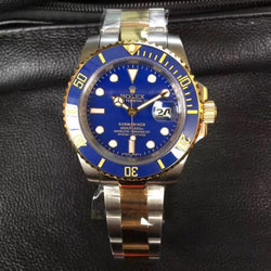 replica two tone Rolex Submariner 40mm blue dial Watch 116610 5848 - top quality swiss movement knockoff replica designer watches from rolex, migos iced out philippe patek , AP, hublot and bust down iced out diamond jewelry