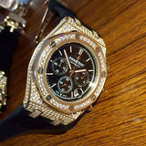 iced out audemars piquet chronograph replica 1:1 watch - top quality swiss movement knockoff replica designer watches from rolex, migos iced out philippe patek , AP, hublot and bust down iced out diamond jewelry