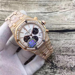 AUDEMARS PIGUET ROYAL OAK OFFSHORE black CHRONOGRAPH ICED OUT Gold REPLICA WATCH - top quality swiss movement knockoff replica designer watches from rolex, migos iced out philippe patek , AP, hublot and bust down iced out diamond jewelry