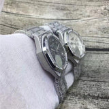 AUDEMARS PIGUET ROYAL OAK OFFSHORE CHRONOGRAPH ICED OUT SILVER REPLICA WATCH - top quality swiss movement knockoff replica designer watches from rolex, migos iced out philippe patek , AP, hublot and bust down iced out diamond jewelry