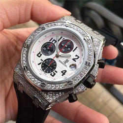 Replica iced out bust down AUDEMARS PIGUET ROYAL OAK OFFSHORE - top quality swiss movement knockoff replica designer watches from rolex, migos iced out philippe patek , AP, hublot and bust down iced out diamond jewelry