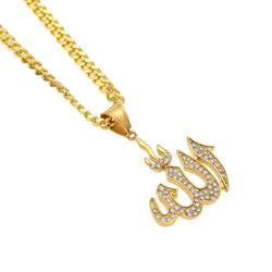 Allah Pendant Necklaces - top quality swiss movement knockoff replica designer watches from rolex, migos iced out philippe patek , AP, hublot and bust down iced out diamond jewelry
