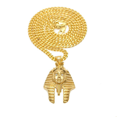 Egypt Charm Necklace Pharaoh King - top quality swiss movement knockoff replica designer watches from rolex, migos iced out philippe patek , AP, hublot and bust down iced out diamond jewelry