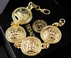 gold versace medusa bracelet - top quality swiss movement knockoff replica designer watches from rolex, migos iced out philippe patek , AP, hublot and bust down iced out diamond jewelry