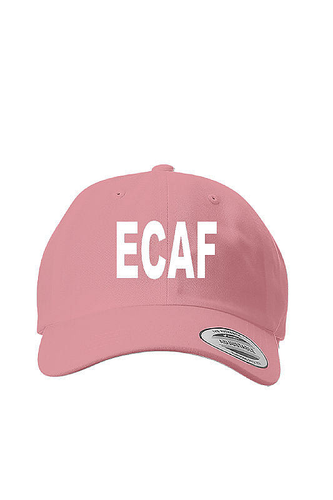 ECAF Classic Dad Cap, Color: Pink, East Coast AF Apparel