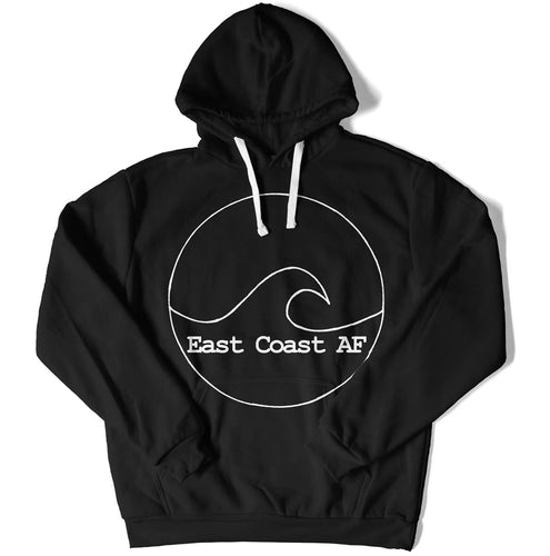 East Coast AF Unisex Logo Hoodie, Color: Black, East Coast AF Apparel
