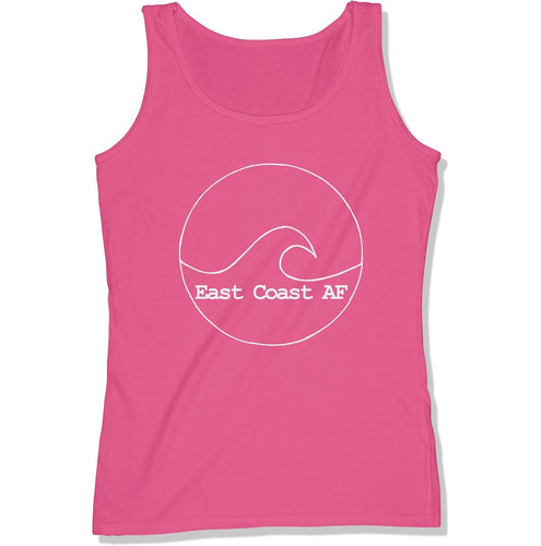 East Coast AF Women's Logo Tank Top, Color: Raspberry w/ White Print, East Coast AF Apparel