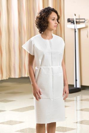 GRAHAM MEDICAL TISSUE/POLY/TISSUE EXAMINATION GOWN