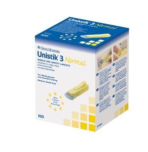 OWEN MUMFORD UNISTIK® 3 PRE-SET SINGLE USE SAFETY LANCETS