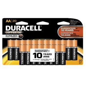 DURACELL® COPPERTOP® ALKALINE RETAIL BATTERY WITH DURALOCK POWER PRESERVE™ TECHNOLOGY