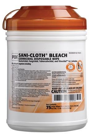 PDI SANI-CLOTH® BLEACH GERMICIDAL DISPOSABLE WIPE