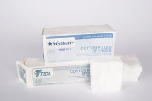 TIDI 8-PLY STERILE COTTON-FILLED GAUZE SPONGES