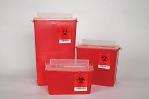 PLASTI HORIZONTAL ENTRY SHARPS CONTAINERS