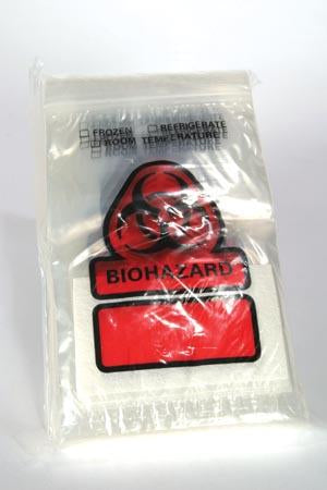 RD PLASTICS BIOHAZARD RECLOSEABLE BAG