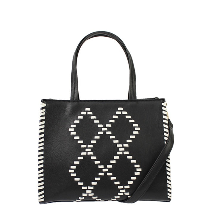 Jendi // Handbag // Black & White Stitch