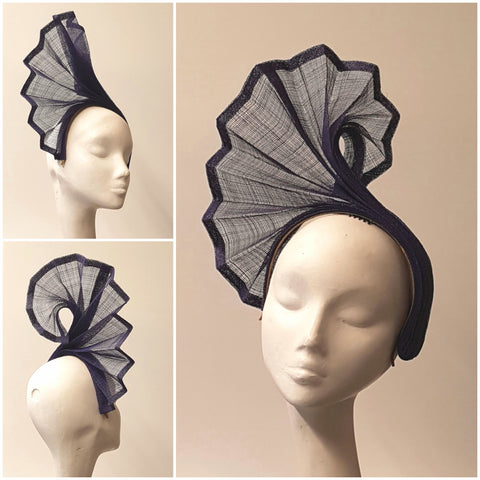 Anél // Headpiece // Purple Fan