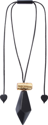 Zsiska // Necklace // Dolomites Gold-Black