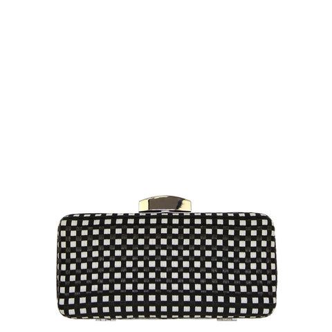Jendi // Clutch // Black & White Squares