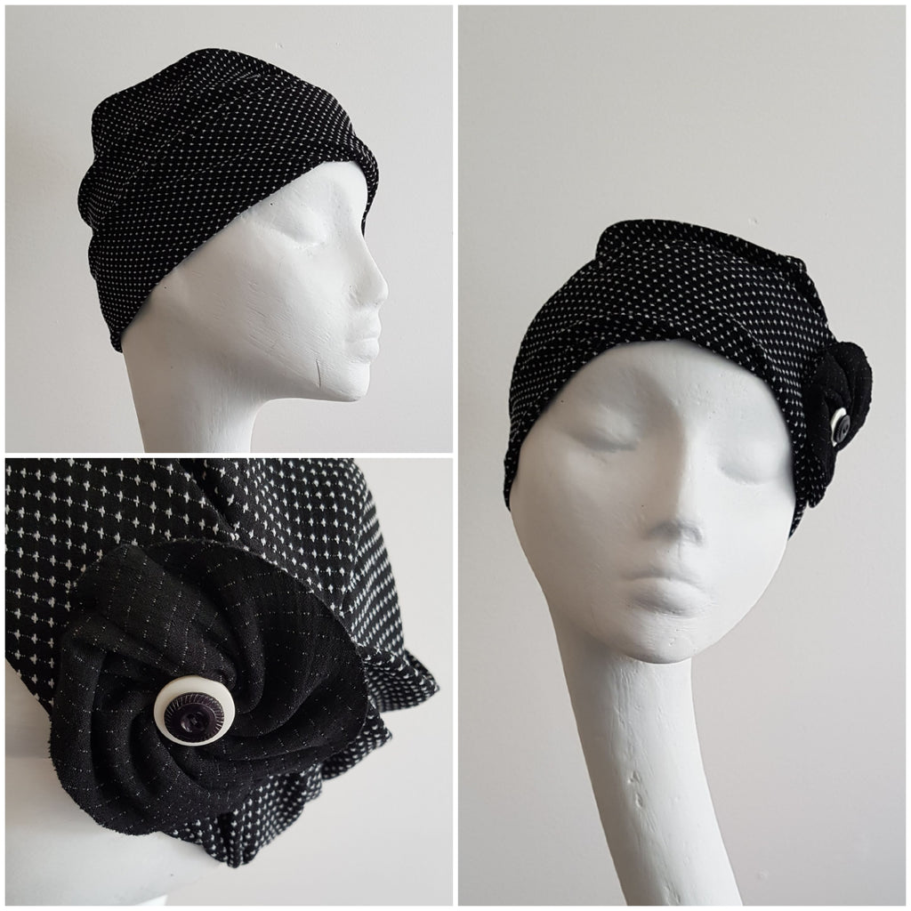 Anél // Scrunch Hat // Black & White