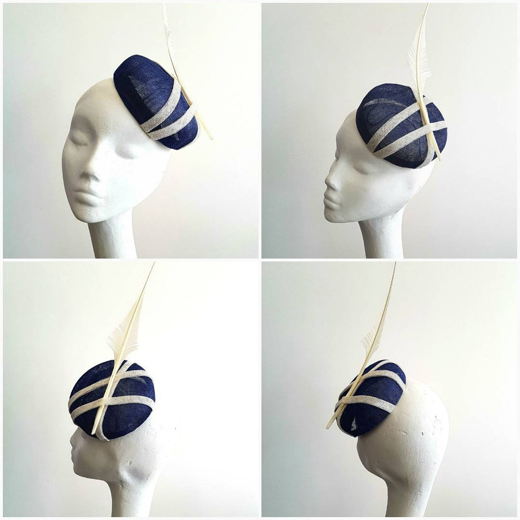 Anél // Headpiece // Navy and White