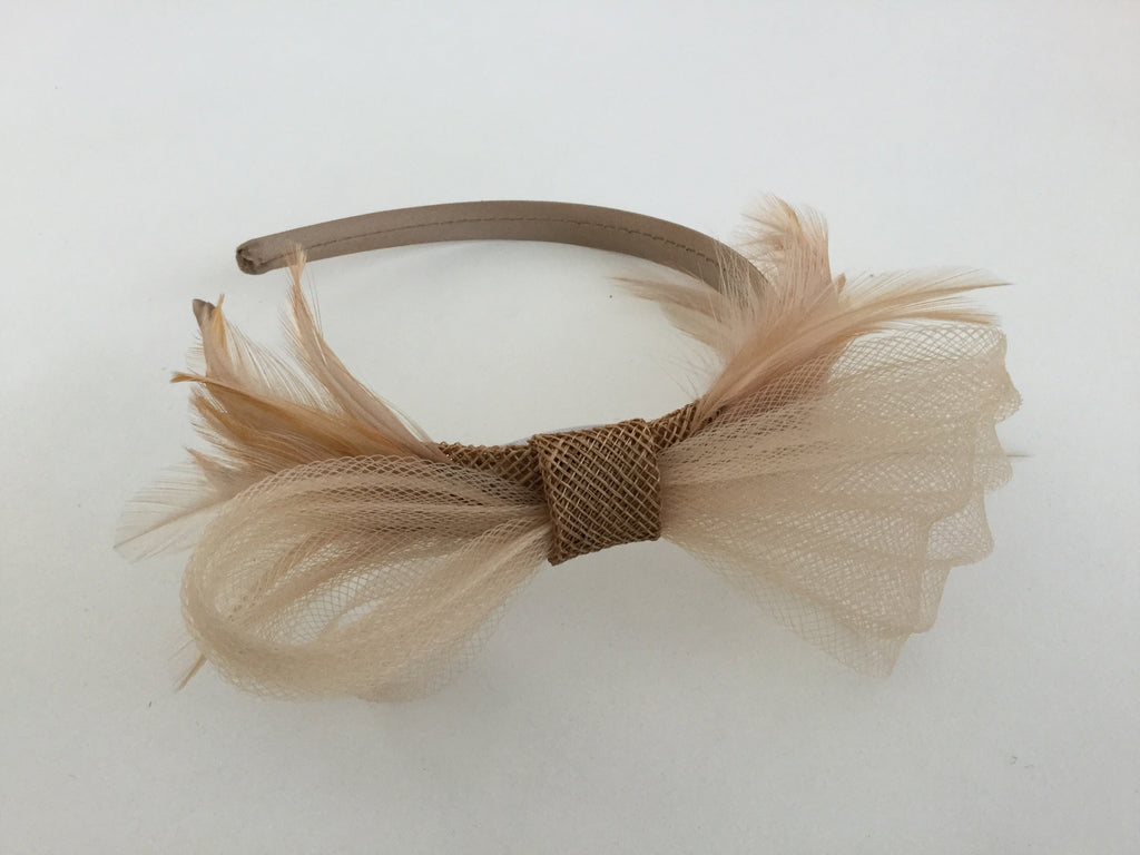Gold and Taupe tones headband