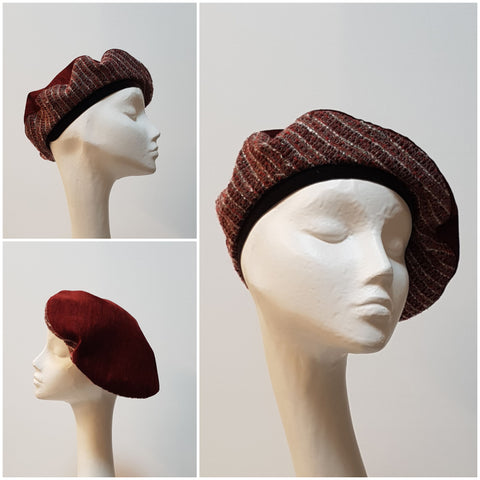 Anél // Classic Beret // Wine with Lurex