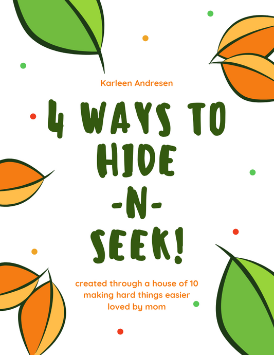 4 Ways To Play Hide-n-Seek